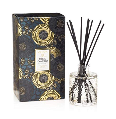 Voluspa Moso Bamboo Home Ambience Reed Diffuser, 3.4 Fluid Ounces