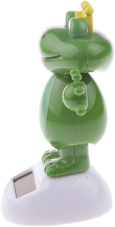 Cadeau Jouet pour Enfants 5,5 X 6 X 11 CM Poup/ée /À T/ête Tremblante D/écoration Voiture Maison Ornement Grenouille Mignonne Figurine Balancier Jouets Solaire