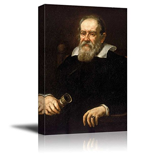 Portrait of Galileo Galilei by Justus Sustermans Giclee ped Gallery