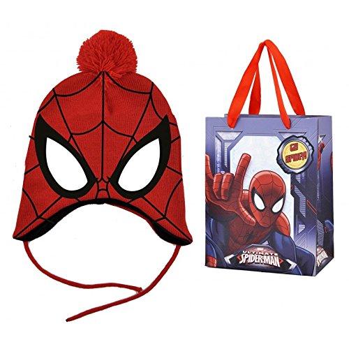 spiderman cappello peruviano con confezione regalo taglia unica tessuto  elastico  Amazon.it  Abbigliamento d459ac5bc049