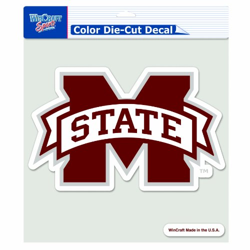 NCAA Mississippi State Bulldogs 8-by-8 Inch Diecut Colored Decal ()