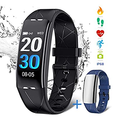 NASUM Fitness Tracker Activity Tracker IP67 Waterproof Smart Wristband with Heart Rate Monitor Step Counter Watch and Sleep Monitor Calorie Counter Watch for Kids Women Men Estimated Price £24.99 -