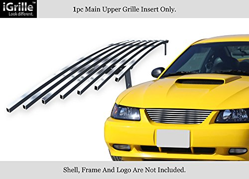 APS 304 Stainless Steel Billet Grille Compatible with 1999-2004 Ford Mustang V6 V8 GT -