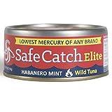 SAFE CATCH, Tuna, Elite Wild, Habnr Mnt, Pack of 6, Size 5 OZ, (Gluten Free Wheat Free)