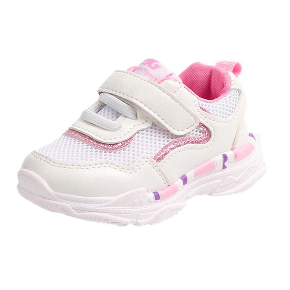 WOCACHI Baby Girls Shoes ベビーガールズ B07DR8CWXP 25 EU|ピンク ピンク 25 EU