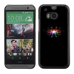 Diferentes Colores De Petardos - Metal de aluminio y de plástico duro Caja del teléfono - Negro - HTC One M8