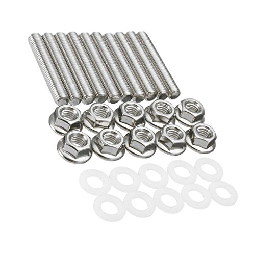 D DOLITY 10 Pieces Brand New Intake Manifold Extended Studs Bolts Kit For Honda Acura B C D F H ()