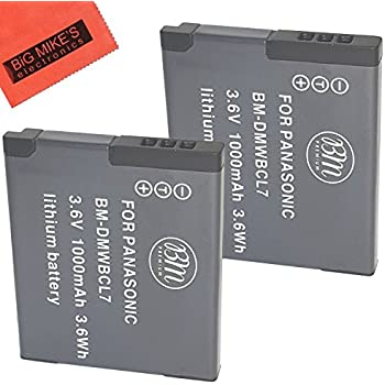 BM Premium 2-Pack of DMW-BCL7 Batteries for Panasonic Lumix DMC-SZ3, DMC-SZ8, DMC-SZ10, DMC-XS1, DMC-FH10, DMC-F5 Digital Camera
