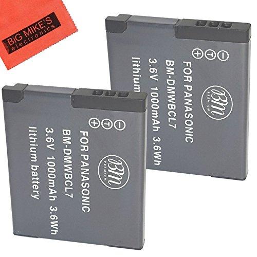 BM Premium 2-Pack of DMW-BCL7 Batteries for Panasonic Lumix DMC-SZ3, DMC-SZ8, DMC-SZ10, DMC-XS1, DMC-FH10, DMC-F5 Digital Camera (Sz10 Lumix)