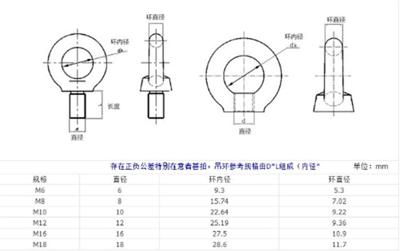 Nuts Nails Screws 10PCS M8 Stainless Steel Rings Nut Round Nut Marine Rings Nut Eye Nut