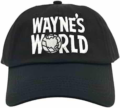4e61b1c01088c Wayne s World Hat Cap Waynes World Dad Hat Wayne Movie Baseball Cap Black  Cotton