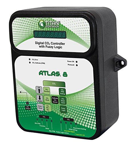 Room Controller - Titan Controls Digital Carbon Dioxide (CO2) Controller w/ Fuzzy Logic, 120V - Atlas 8