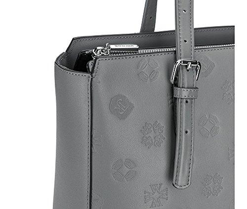 WITTCHEN Borsa elegante, Grigio Chiaro - Dimensione: 29x36cm - Materiale: Pelle di grano -Accomoda A4: Si - 85-4E-431-8