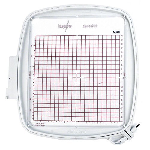 "SewTech Quilter's Hoop 200x200mm (8""x8"") Viking Designer Ruby DeLuxe Diamond PFAFF Creative Equivalent Part #920264096, 820940096"