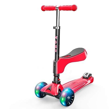 WYQ Scooter, Patinete 3 Ruedas niño niña, Asiento extraíble ...