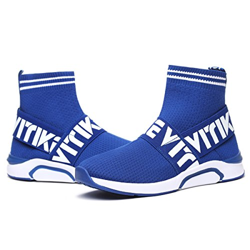Jogging Running Sports Girls Elaphurus Women's Ladies 2 Running blue Trainers Shoes Air Trainers Bubble Sneaker AzqFzBnv