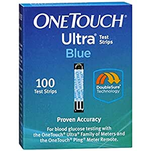 Amazon.com: One Touch Ultra Test Strip Blue 100: Health