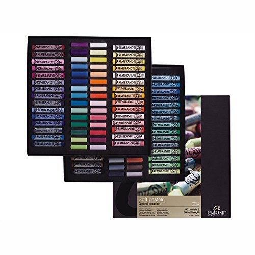 Rembrandt Soft Pastel Master Box Set, 120-Piece (60 Full Sticks + 60 Half Sticks), General Selection by Rembrandt