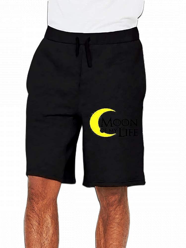 JiJingHeWang Moon of My Life Mens Casual Short Trouser