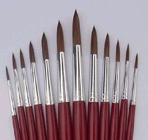 FINE HAIR PAINT BRUSH SET x 6 sizes 0, 00, 000 for model and figure painting - Tasma