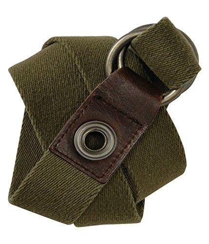 Aeropostale Mens Knit Olive Green Woven Belt, Green, S/M