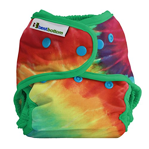 Best Bottom Cloth Diaper Shell-Snap, Totally Tie Dye Best Baby Clothes