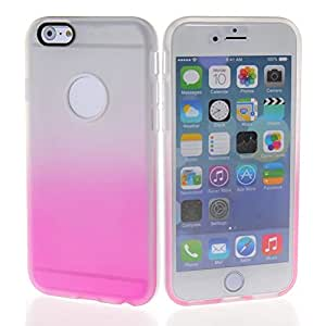 MOONCASE Flexible Soft Gel TPU Silicone Slim Back Case Cover for Apple iPhone 6 Plus Clear pink