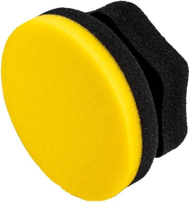 Adam's Yellow Hex Grip Car Wax Foam Applicator - Car Detailing Tool for Waxing Kit Glaze Sealant Liquid Paste Wax Ceramic Coating | Paint & Auto Part Accessories | Car Wash Kit Cleaning Supplies: Automotive