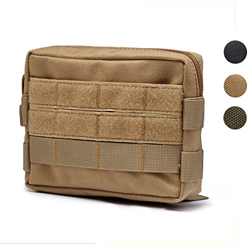 Molle Pouches, Hoanan Tactical Admin Pouch Compact EDC Utility Gadget Gear Pouch Military Carry Accessory Belt Hanging Waist Bag(tan)