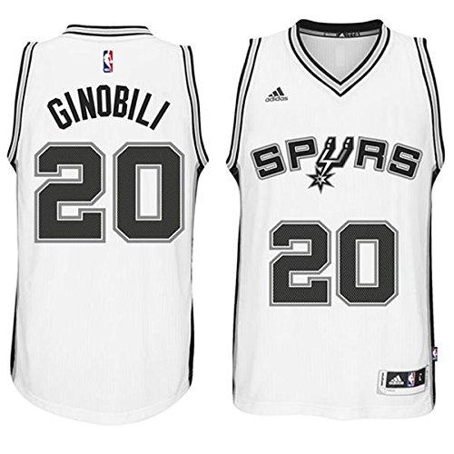 Manu Ginobili Trikot Herren San Antonio Jersey Mens Shirt White Size XXL