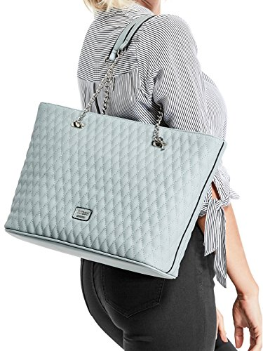 GUESS Factory Women's Larson Quilted Top Chain Handle Tote by GUESS Factory (Image #2)