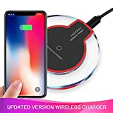 Wireless Charger Charging Pad Compatible for Samsung Note 8, S9/S8/S8 Plus/S7/S7 Edge/S6, iPhone 8/8 Plus, iPhone X, Nexus 7/6/5/4(2013), Nokia Lumia 920, LG Optimus (Black)