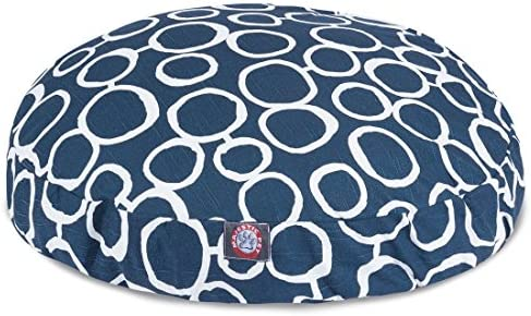 Majestic Pet Fusion Navy Large Round Pet Bed