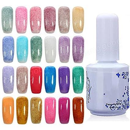 Generic 24 Colors 15ml Fur Styles Velvet Nail Art Soak Off Uv Gel