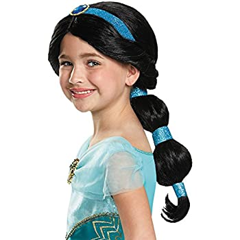 Disney Aladdin Princess Jasmine Wig Child Halloween Costume Accessory