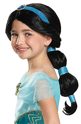 Princess Jasmine Hair Costume (UHC Disney Aladdin Princess Jasmine Wig Child Halloween Costume Accessory)