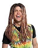 DISC0UNTST0RE Dreadlock Wig Blonde-Brown Halloween Costume - One Size Fits Most