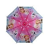 New Cartoon Pattern Anna Tangled Children Kids Umbrella Girls Blue