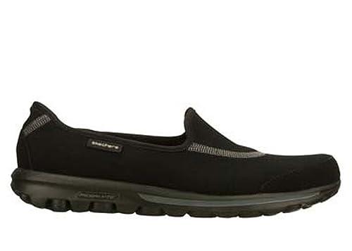 Skechers Go Walk - Mary Janes - Mujer, Negro (Blanco y Negro), 41: Amazon.es: Zapatos y complementos