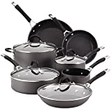 Circulon Momentum Hard-Anodized Nonstick 11-Piece Cookware Set - Gray