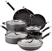 Circulon Momentum Hard-Anodized Nonstick 11-Piece Cookware Set - Gray