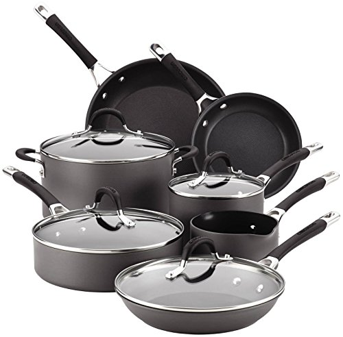Circulon Skillets Infinite (Circulon Momentum Hard-Anodized Nonstick 11-Piece Cookware Set - Gray)