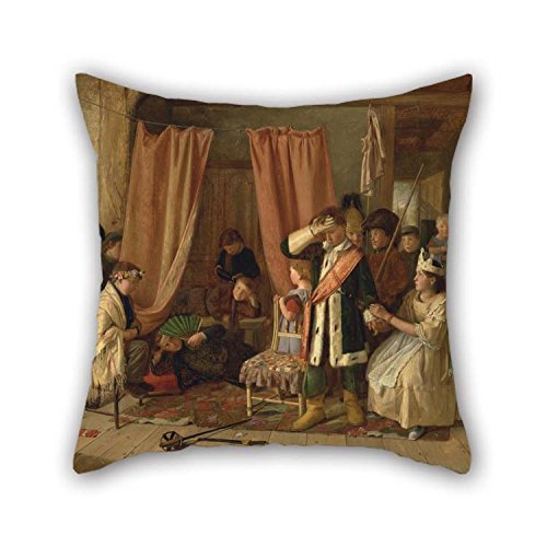 18 X 18 Inches / 45 By 45 Cm Oil Painting Charles Hunt - Children Acting The 'Play Scene' From 'Hamlet,' Act II, Scene Ii Cushion Cases 2 Sides Is Fit For Her Living Room Divan Festival Sofa Valen