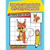 Easy to Intermediate Grid Copy Activities : Drawing Book for Kids