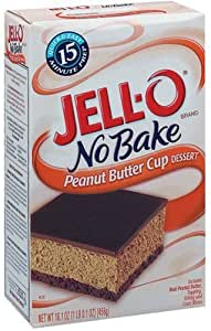 Jell-O No-Bake Peanut Butter Cup Dessert, 16.1-Ounce Boxes (Pack of 5)