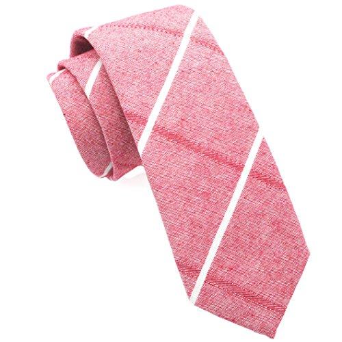 (Casual Skinny Cotton Necktie Plaid Slim Ties 2(1/2) Carnatio TC020)