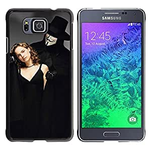 MOBMART Carcasa Funda Case Cover Armor Shell PARA Samsung ALPHA G850 - Deception Of The Masked Gentleman