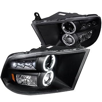 Amazon.com: Spec D Tuning 2LHP RAM09JM TM Dodge Ram Dual Halo Black  Projector Head Lights: Automotive Nice Design