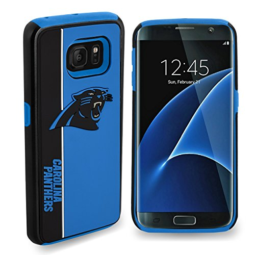 Forever Collectibles Dual Hybrid BOLD Series Case for Samsung Galaxy S7 Edge - NFL Carolina Panthers