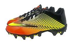 Nike Kids Vapor Shark 2 Football Cleats (5y, Blackvolt-total-crimson)